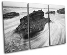 rocks black white Sunset Seascape - 13-0342(00B)-TR32-LO